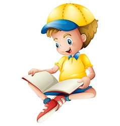 A child reading vector image