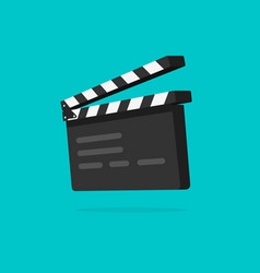 clapperboard isolated flat vector image