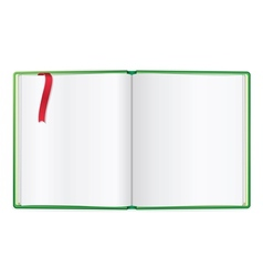 Opened book blank vector image vector image