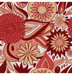 red floral pattern vector image