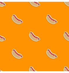 Seamless pattern with fastfood icons vector image
