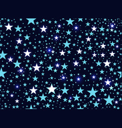 seamless pattern with stars deep space vector image vector image