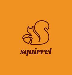 squirrel logo vector image vector image