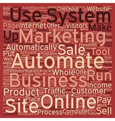 How To Automate Your Online Business text vector image vector image