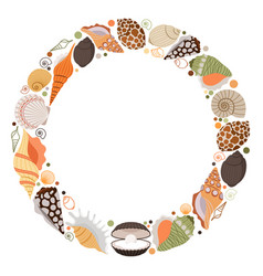 marine life wreath icon vector image