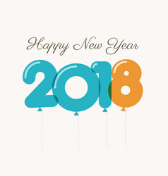 new-year-2018-blue-orange-balloons vector image vector image