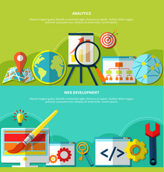 online marketing banners set vector image