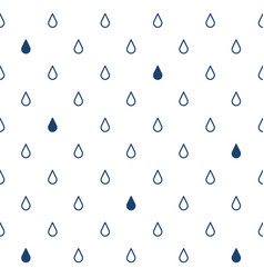 seamless pattern with drops rain vector image vector image