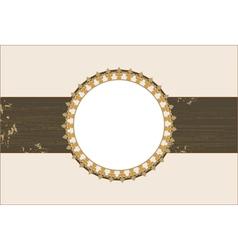 vintage pattern background for invitation vector image vector image