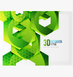 3d hexagon background vector