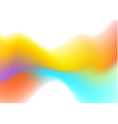 Abstract colorful liquid wave shiny background vector