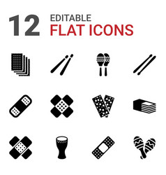 Band icons vector