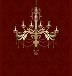 Black sihouette of chandelier vector