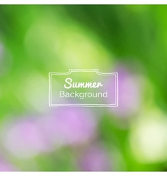Blurred nature summer green background vector