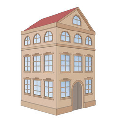 building residential house 3 floors vector image