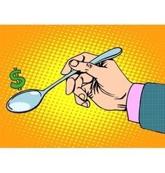 Business Finance concept sign dollar spoon vector