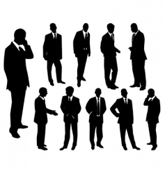 collection of businessmen vector image