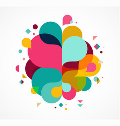 Colorful abstract background poster with splash vector