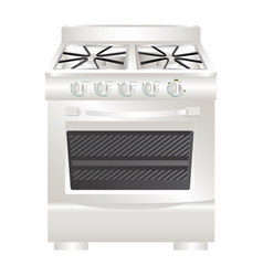 colorful realistic silhouette of stove with oven vector image