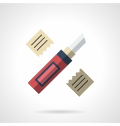 Construction knife flat color icon vector image