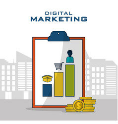 Digital marketing business vector