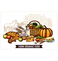 Ecological Farm Poster vector