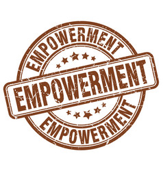 Empowerment brown grunge stamp vector