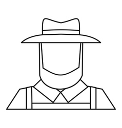 Farmer icon outline style vector