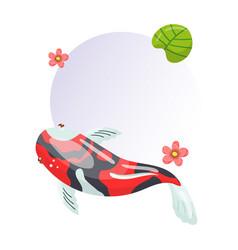 features of shova carp koi traditional sacred vector image