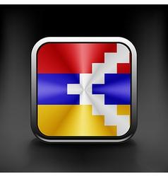 Flag of Nagorno Karabakh Republic vector image