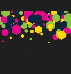 geometric pattern with colorful hexagons abstract vector image