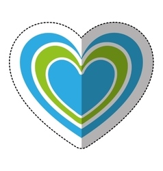 heart medical isolated icon vector image