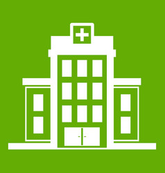hospital icon green vector image
