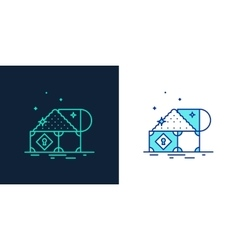 icon of a treasure linear style vector image