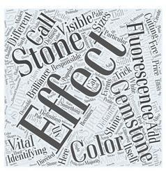 Identifying gemstones Word Cloud Concept vector