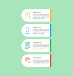 infographic and text sample vector image