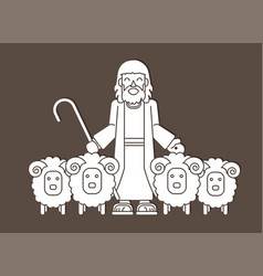 Jesus is my shepherd graphic vector