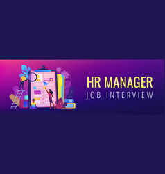 job interview header or footer banner vector image