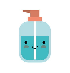 kawaii liquid soap bottle dispenser in colorful vector image
