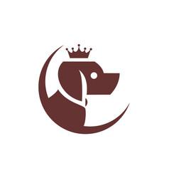 king dog concept abstract logo icon vector image