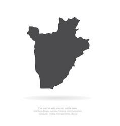 map burundi isolated black vector image