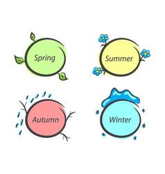 Message frames nature seasons spring summer vector