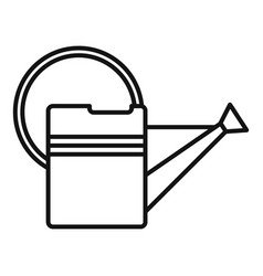 metal watering can icon outline style vector image