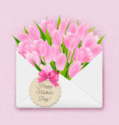 Mothers day retro card vector