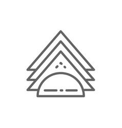 Napkin holder line icon vector