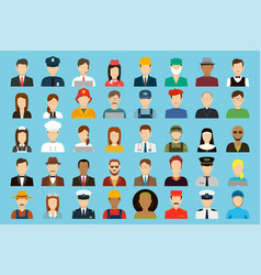 Occupation icons set job and employments concept vector