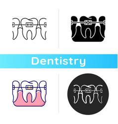 orthodontics icon vector image