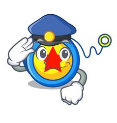 Police yoyo character cartoon style vector