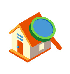 Property inspection isometric vector