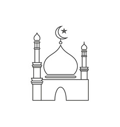 ramadan kareem icon vector image